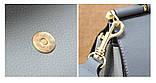 Сумка кожаная женская. Сумочка из натуральной кожи с двумя плечевыми ремешками (бежевая), фото 7