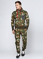 Мужские спортивные прямые брюки Triko утепленные S Хаки 7172213-S, КОД: 1452760