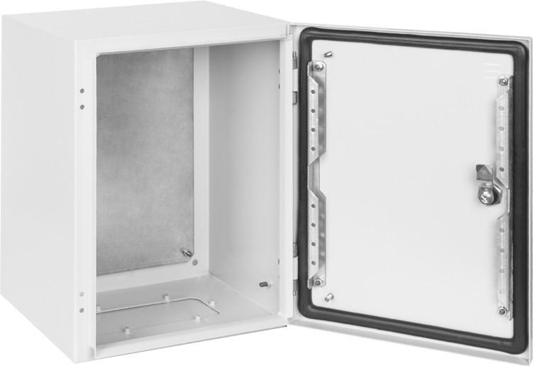 Щит металевий 400х300х200 IP65 з монтажною панеллю