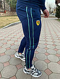 Мужской спортивный костюм Puma Ferrari темно-синий, фото 3