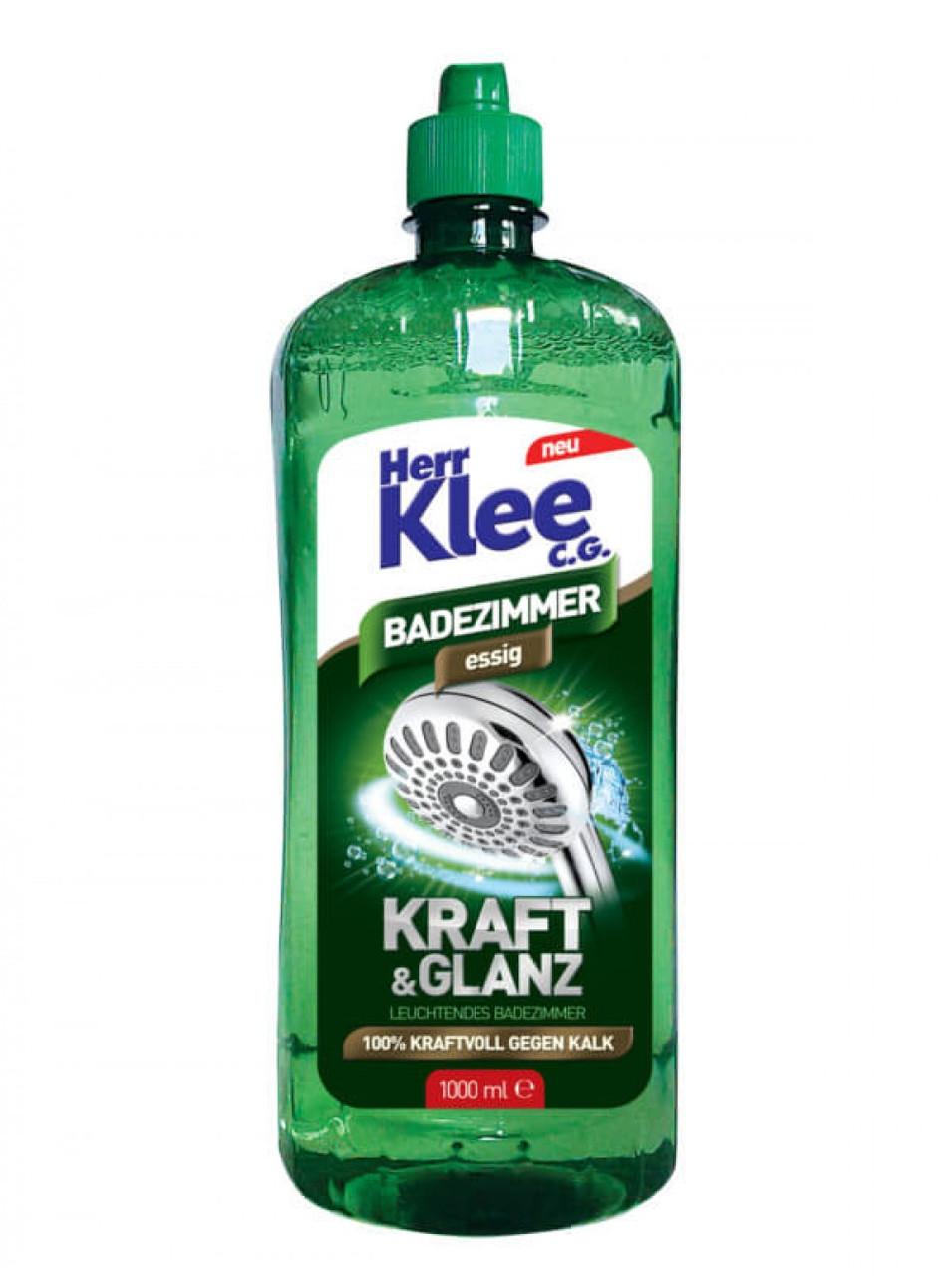 Універсальна рідина для прибирання ванних кімнат Herr Klee Badezimmer Essig 1000 ml.