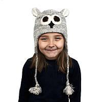 Шапка с ушками детская Animals Owl Kathmandu One Size Серый 23042, КОД: 1597254