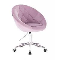 Кресло HR8516  велюровое пуговицы, вереск, фото 1