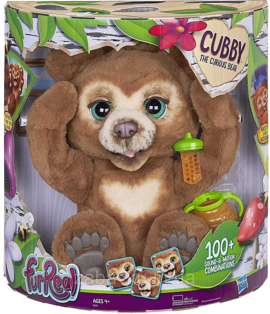 Інтерактивний ведмедик Каббі Хасбро FurReal Cubby, The Curious Bear Interactive Plush Toy