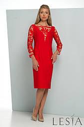 Жіноча приталені плаття з мереживом Lesya Кармен.