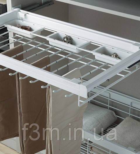 Вешалка для брюк + пластиковый ящик с доводчиком Unihopper: Мокка, 800