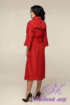 Женский красный плащ ниже колена (р. 44-54) арт. 11-97/634, фото 2