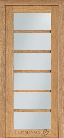 Межкомнатная дверь для частного дома Модель 137 Дуб светлый, остекленная