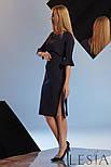 Коктейльное платье из эластичного трикотажа с оборками на рукавах Lesya Османа., фото 2