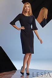 Коктейльне плаття з еластичного трикотажу з оборками на рукавах Lesya Османа.