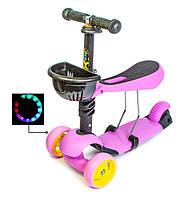 Самокат Scooter Smart  3in1. Лиловый цвет. (Смарт-колеса!), фото 1