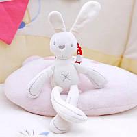 М'яка іграшка-підвіска Кролик. Підвіска-брязкальце на коляску, автокрісло, ліжечко