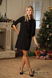 Ошатне плаття з однотонного трикотажу з рюшів ерма: Lesya.