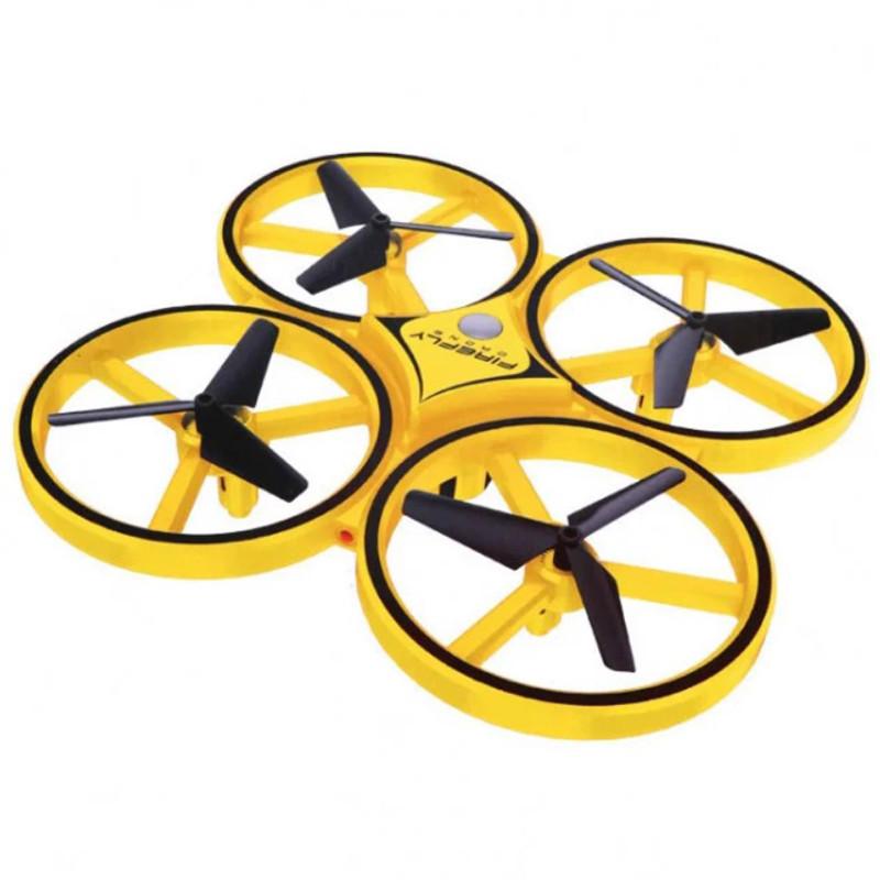 Квадрокоптер дрон, летающий радиоуправляемый Tracker Drone XXD166 с сенсорным управлением на руку, жестами