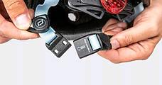 Шолом захисний 45-51см дитячий Scoot and Ride лохина з ліхтариком (XXS/XS), фото 2