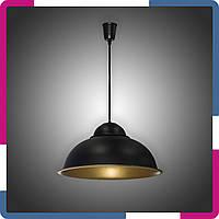Светильник подвесной в стиле лофт на 1 лампу черный+бронза