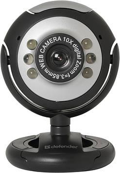 Веб-камера Defender C-110 Black/Silver (63110)