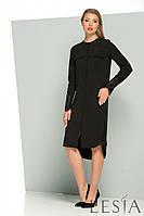 Платье-рубашка прямого силуэта с вставками из кружева Lesya Аделла.