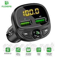 Автомобильная зарядка FLOVEME 3.4A, FM-трансмиттер, Bluetooth, двойной USB, TF карта