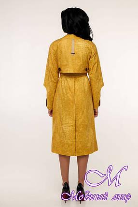 Женский желтый плащ с поясом (р. 44-54) арт. 11-98/11, фото 2