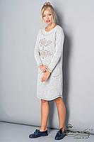 Теплое платье из ангоры с вышивкой Lesya Артега.