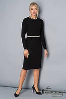 Теплое трикотажное черное  платье в классическом стиле Lesya  Даника.