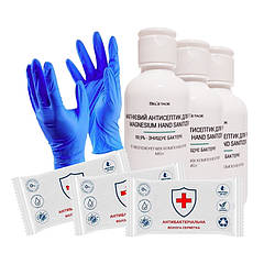 Набор антисептических средств: антисептик антисептические салфетки перчатки Bel`etage 7 шт (36-238368)
