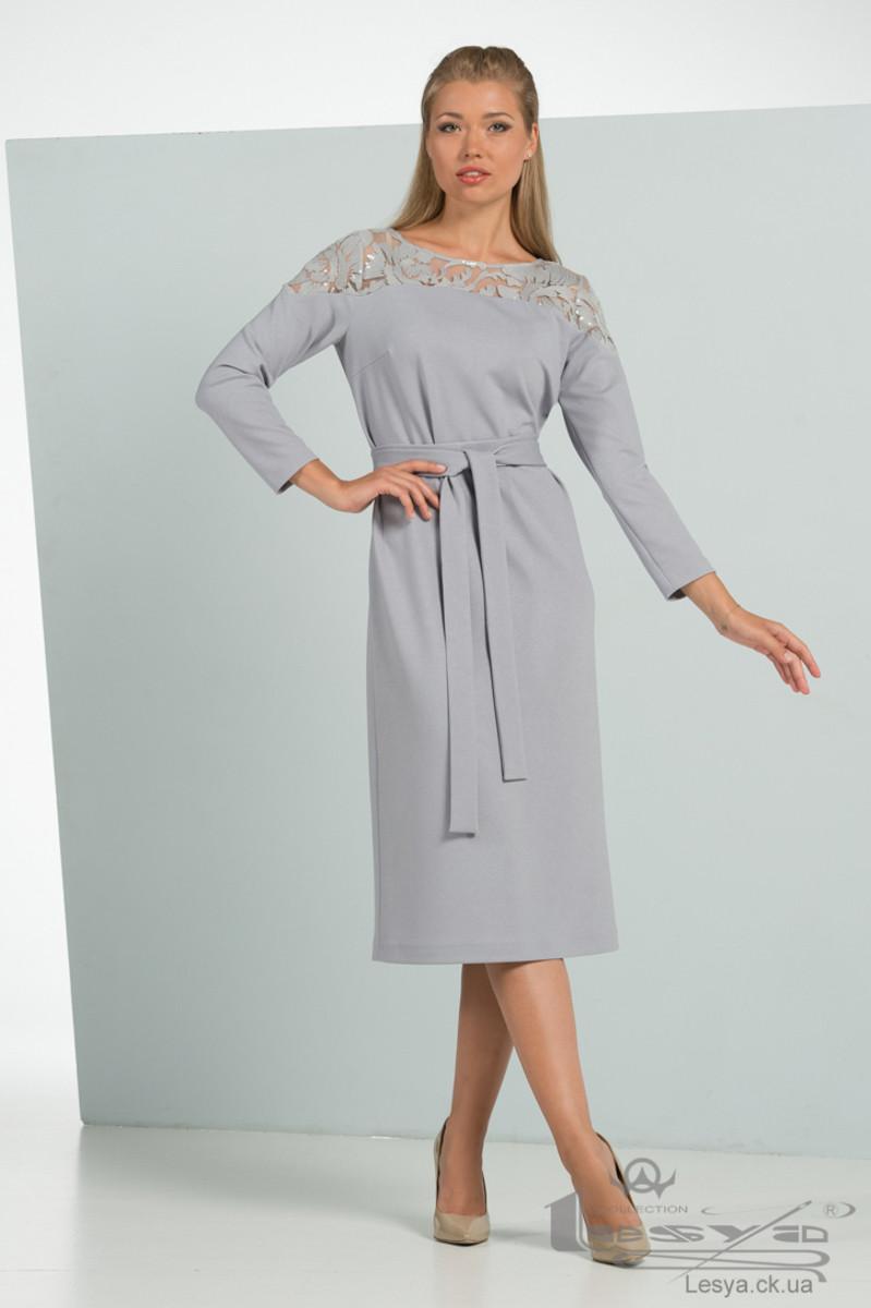 Елегантне плаття приталеного крою з гипюровыми вставками Lesya Дженна.