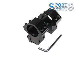 Кріпильні кільця Discovery низькі на планку 11 мм для оптичного прицілу