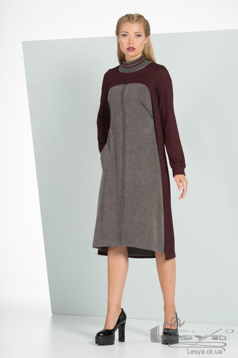 Комплект з теплого трикотажного сукні і накидки Lesya Котс.