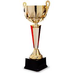 Кубок спортивный с ручками (металл, пластик, h-29,5см, b-15см, d чаши-10см, золото) PZ-HB005B