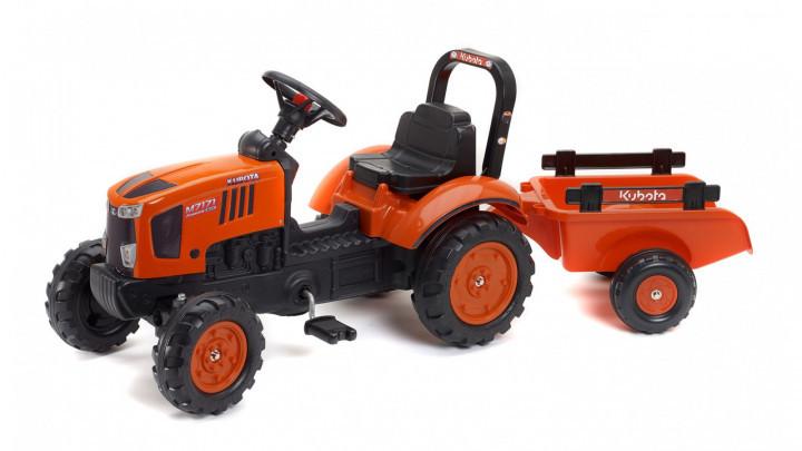 Дитячий трактор на педалях з причепом Kubota FALK 2065AB