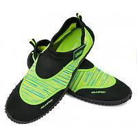 Мужские аквашузы Aqua Speed 2B 44 Черный с зеленым aqs277, КОД: 1209967
