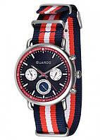 Мужские наручные часы Guardo P11146 SR Стальной, КОД: 1548654