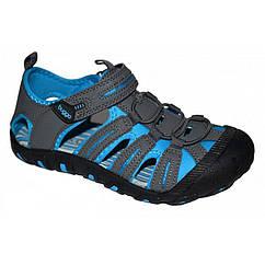 Спортивные сандалии с прорезиненным носком Pidilidi Bugga 33 B00118b Серо-синие hubdqht21057, КОД: 1143064
