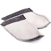 Тапочки для дома и бани войлочные Luxyart 36-39 р Белый LS-145, КОД: 1101443