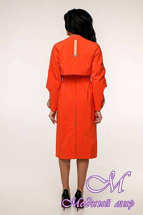 Женский оранжевый плащ с поясом (р. 44-54) арт. 11-98/632, фото 2