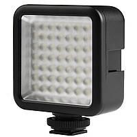 Накамерный свет Ulanzi W49 постоянный для фото и видеокамер Черный 3067-8793, КОД: 1567669