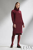Теплое трикотажное платье прямого силуэта Lesya Риния 6
