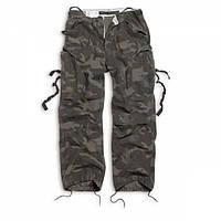 Брюки Surplus Vintage Fatigue Trousers Black Camo
