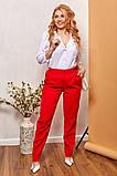 Модные женские брюки приуженные из вельвета с карманами, 4 цвета р.42-44,46-48,50-52,54-56,58-60  код 686Н, фото 3