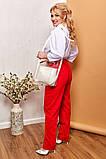 Модные женские брюки приуженные из вельвета с карманами, 4 цвета р.42-44,46-48,50-52,54-56,58-60  код 686Н, фото 4