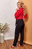 Модные женские брюки приуженные из вельвета с карманами, 4 цвета р.42-44,46-48,50-52,54-56,58-60  код 686Н, фото 7