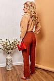 Модные женские брюки приуженные из вельвета с карманами, 4 цвета р.42-44,46-48,50-52,54-56,58-60  код 686Н, фото 10