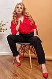 Модные женские брюки приуженные из вельвета с карманами, 4 цвета р.42-44,46-48,50-52,54-56,58-60  код 686Н, фото 6