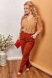 Модные женские брюки приуженные из вельвета с карманами, 4 цвета р.42-44,46-48,50-52,54-56,58-60  код 686Н, фото 9