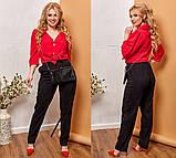 Модные женские брюки приуженные из вельвета с карманами, 4 цвета р.42-44,46-48,50-52,54-56,58-60  код 686Н, фото 5