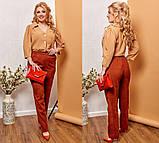 Модные женские брюки приуженные из вельвета с карманами, 4 цвета р.42-44,46-48,50-52,54-56,58-60  код 686Н, фото 8