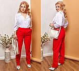Модные женские брюки приуженные из вельвета с карманами, 4 цвета р.42-44,46-48,50-52,54-56,58-60  код 686Н, фото 2