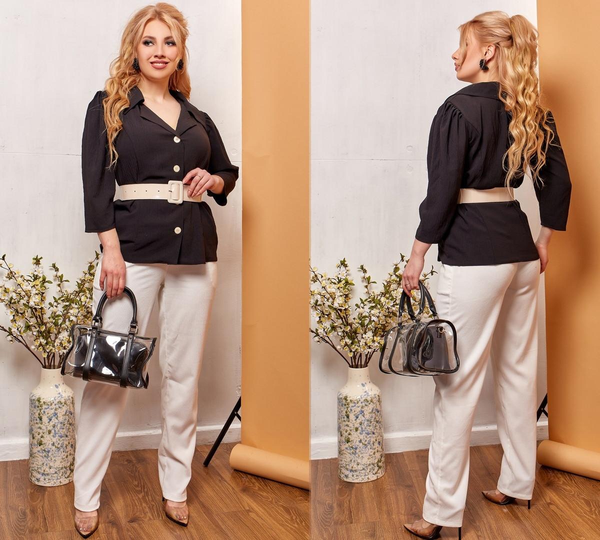 Модные женские брюки приуженные из вельвета с карманами, 4 цвета р.42-44,46-48,50-52,54-56,58-60  код 686Н